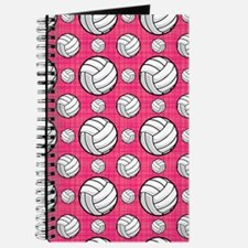 Bright Pink Volleyball Pattern Journal