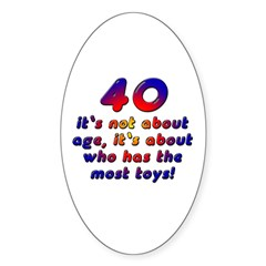 40 gifts, Oval Decal