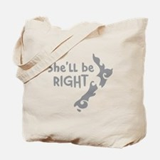 Shell be right with kiwi New Zealand Map Tote Bag