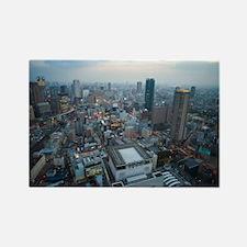downtown osaka panoramic Rectangle Magnet