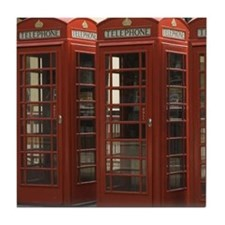 PHONE BOOTHS Tile Coaster