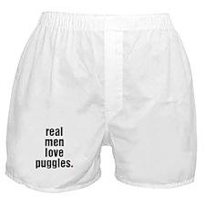 Real Men - puggle Boxer Shorts