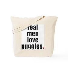 Real Men - puggle Tote Bag