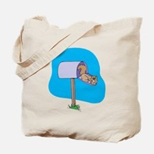 Squirrel Sleeping in Mailbox Tote Bag
