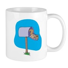 Squirrel Sleeping in Mailbox Mug