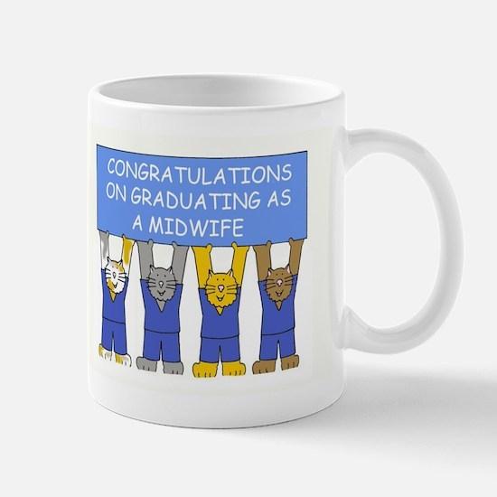 Midwife Graduate Congratulations. Mugs