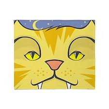 Cat Face Throw Blanket