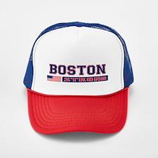 BOSTON STRONG U.S. Flag Trucker Hat