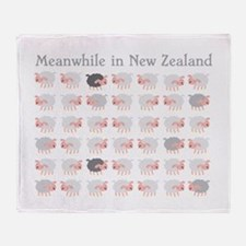 Meanwhile in New Zealand with flock many sheep Thr