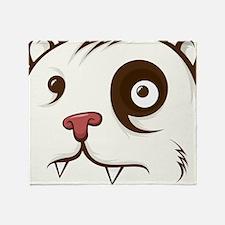 Bear Face Throw Blanket