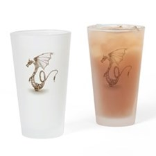 clockwork dragon_sepiaV3.jpg Drinking Glass