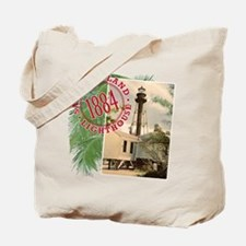 Sanibel 1884 Lighthouse -  Tote or Beach Bag