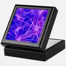 stars fractal blue Keepsake Box