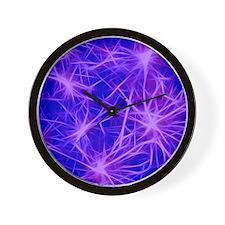 stars fractal blue Wall Clock