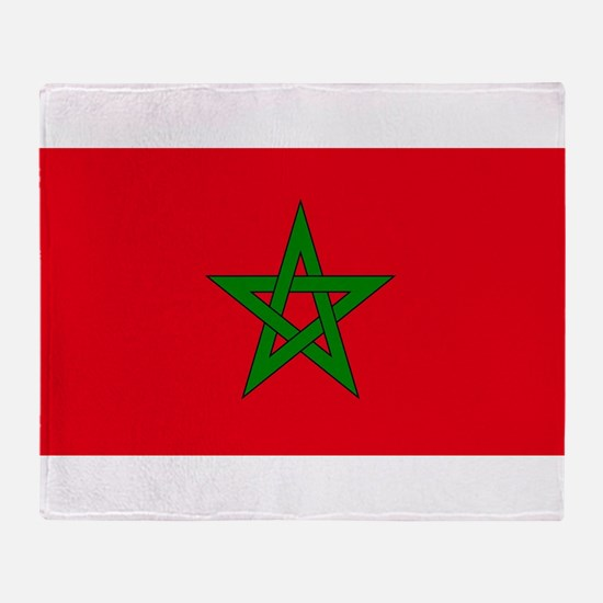 moorish flag, morocco glag, moroccan Throw Blanket
