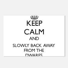 Keep calm and slowly back away from Dwarfs Postcar