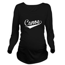 Canoe, Retro, Long Sleeve Maternity T-Shirt