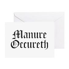 Manure Occureth Greeting Card