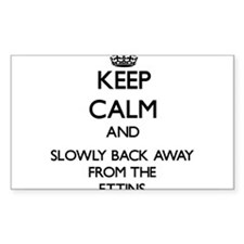 Keep calm and slowly back away from Ettins Decal