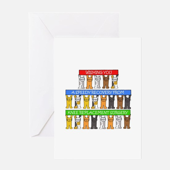 Speedy recovery from knee replaceme Greeting Cards
