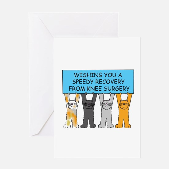 Knee surgery speedy recovery Greeting Cards