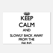 Keep calm and slowly back away from Fauns Postcard
