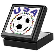 USA soccer Keepsake Box