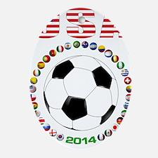 USA soccer Ornament (Oval)