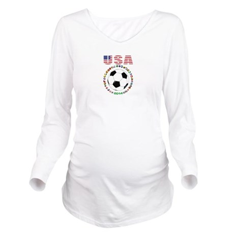 USA soccer Long Sleeve Maternity T-Shirt
