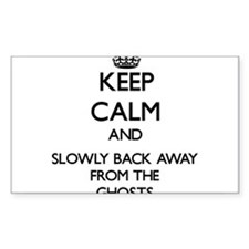 Keep calm and slowly back away from Ghosts Decal