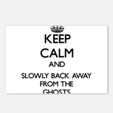 Keep calm and slowly back away from Ghosts Postcar