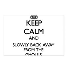 Keep calm and slowly back away from Ghouls Postcar