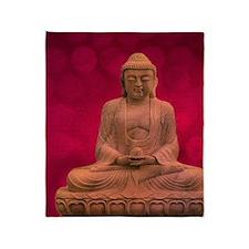 buddha - Erleuchtung - rot Throw Blanket