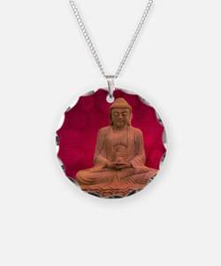buddha - Erleuchtung - rot Necklace Circle Charm