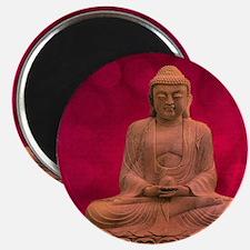 buddha - Erleuchtung - rot Magnet