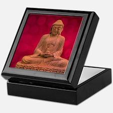 buddha - Erleuchtung - rot Keepsake Box