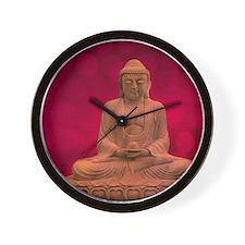 buddha - Erleuchtung - rot Wall Clock