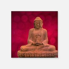 "buddha - Erleuchtung - rot Square Sticker 3"" x 3"""