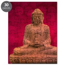 buddha - Erleuchtung - rot Puzzle