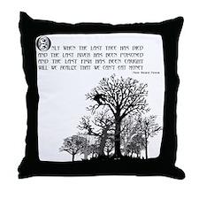 Native American Proverb Throw Pillow