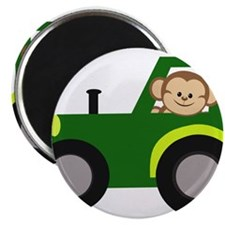 Monkey Driving Tractor Magnets