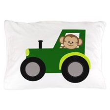 Monkey Driving Tractor Pillow Case