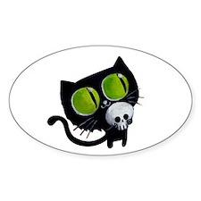 Spooky Black Cat Decal