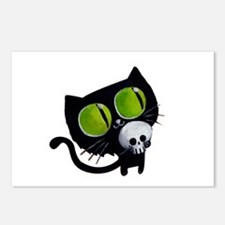 Spooky Black Cat Postcards (Package of 8)