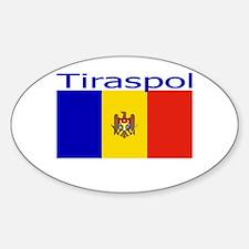 Tiraspol, Moldova Oval Decal