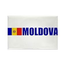 Moldova Flag Rectangle Magnet
