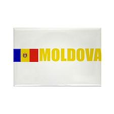 Moldova Flag (Dark) Rectangle Magnet