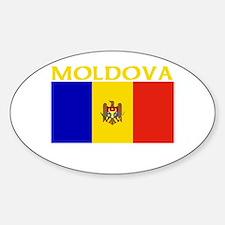 Moldova Flag II (Dark) Oval Decal