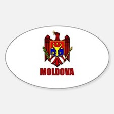 Moldova Coat of Arms Oval Decal
