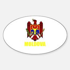 Moldova Coat of Arms (Dark) Oval Decal